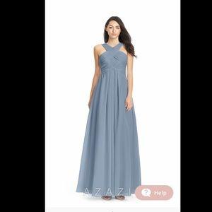 "Azazi bridesmaid dress - ""dusty blue"""